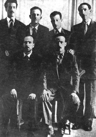 Six chefs FLN - 1954