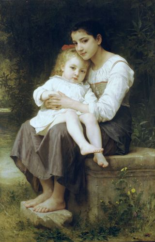 William-Adolphe Bouguereau (1825-1905) - Big Sis' (1886)
