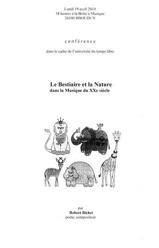 Conférence Bestiaire recto