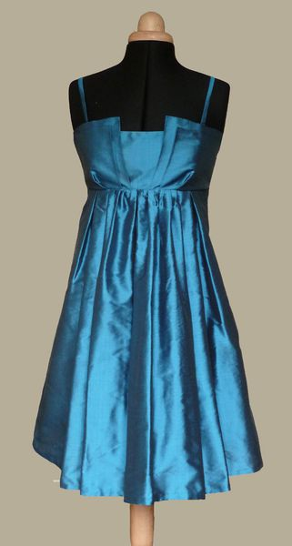 Robe cocktail bleu petrole