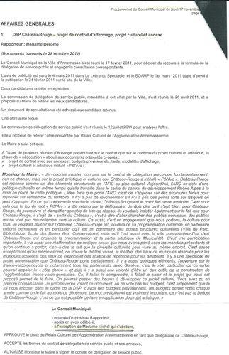 vote DSP chateau rouge CM nov 2011