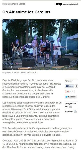 30072013 SUDOUEST LacDesCarolins