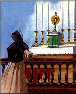 Marcelle Mallet adore le St Sacrement,parousie.over-blog.fr
