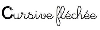 police écriture cursive fléchée
