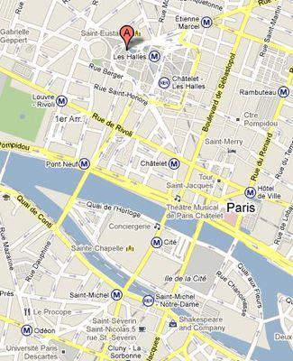 carte quartier des halles