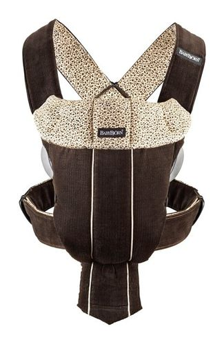 BabyBjorn Carrier Original Dark Brown Corduroy Retro