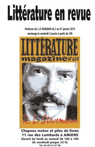 Affiche littérature en revue