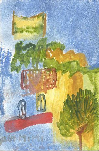 Michel peint, Juin 2012, garlaban