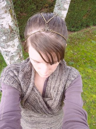 headband bronze antique queue cheval bun2