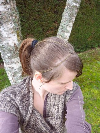 headband bronze antique queue cheval bun3
