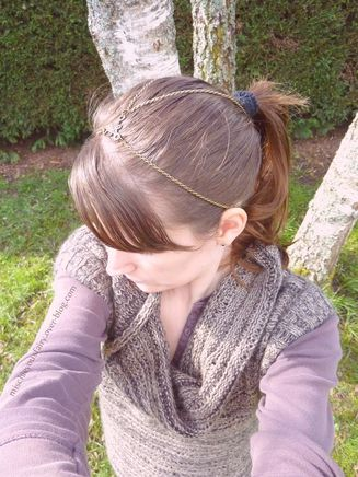 headband bronze antique queue cheval bun4