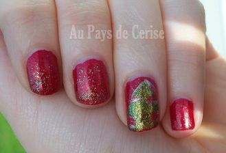 nail art christmas tree