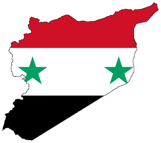 Flag-map of Syria
