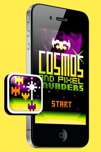 cosmos and pixel invaders