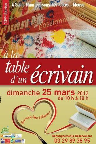 A la table d'un écrivain 2012
