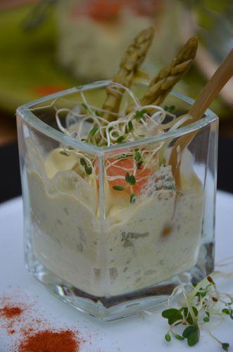 Mousse d'asperges et saumon mariné 2