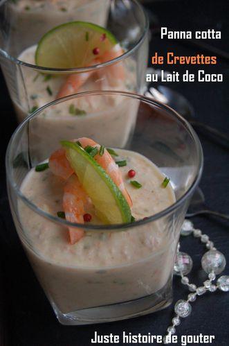 panna cotta crevettes lait de coco