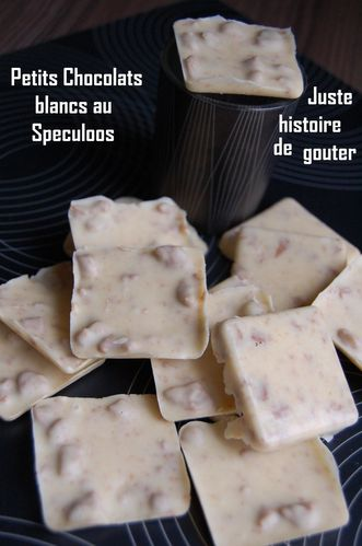 petits chocolats blancs au spéculoos