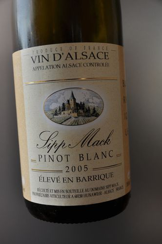 pinot blanc 2005 barriques Sipp Mack
