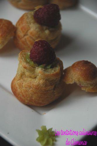 choux frangipane pistache et framboise2