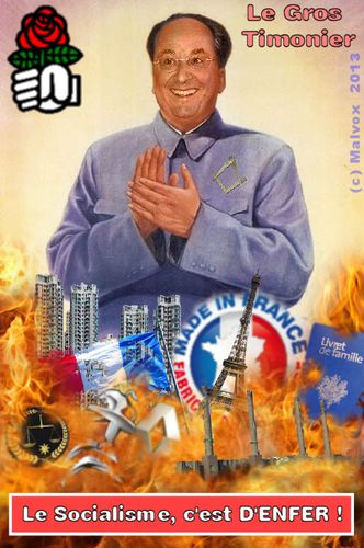 François Mao Zedong Hollande - le gros timonier