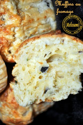 muffins au fromage et olives