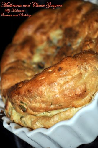 mushroom and cheese gougere
