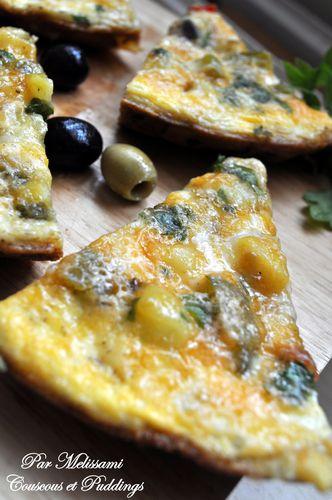 omelette pomme de terre petits pois poivron