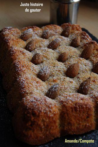 Gâteau compote amande