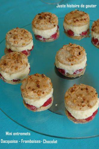 mini entremets dacquoise framb