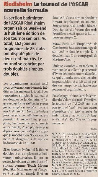 article L'Alsace 010310