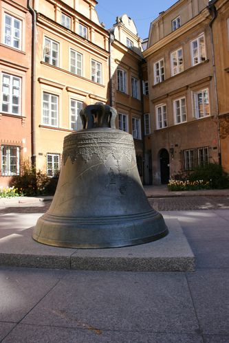 Varsovie-Pologne-cloche bronze 1646-kanonia-vieille ville (