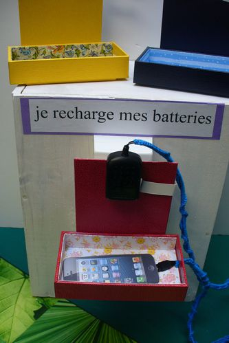 cartonnage charger son portable
