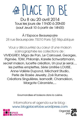 Invitation le carrousel Pop up Place to Be - 04-20142