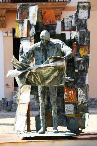 572c3 Bagheria, museo Guttuso, L'Homme qui lit le journal