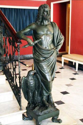 665b1b Zeus, hall de l'Achilleion, Corfou