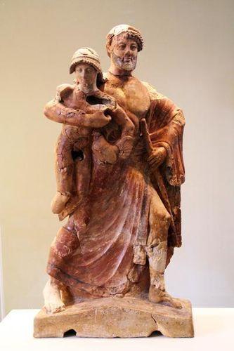 702g3a Musée d'Olympie, Zeus enlève Ganymède