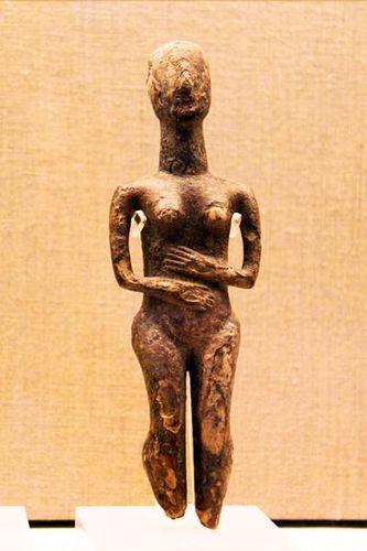 756c4 Santorin, Akrotiri, figurine de marbre 2800-2700 avan