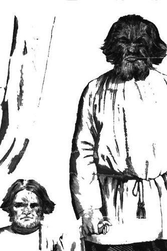 792e3b exhibition d'un homme-chien et son fils (1873)