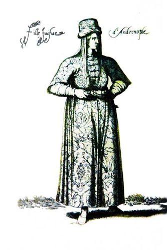 854i1 fille juive d'Andrinople (Edirne)