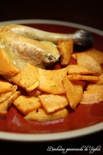 poulet roti chips patate douce 3