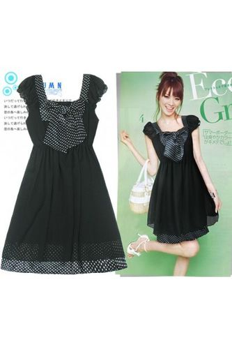 bonjour-miss-dotty-black-chiffon-dress