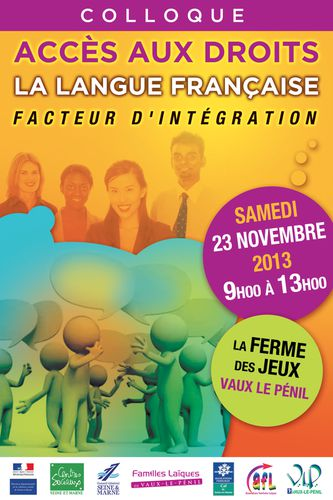affiche colloque langue francaise