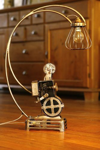 cr ation lampe r cup 39 recyclage ancien projecteur path baby vintage esprit industriel et. Black Bedroom Furniture Sets. Home Design Ideas