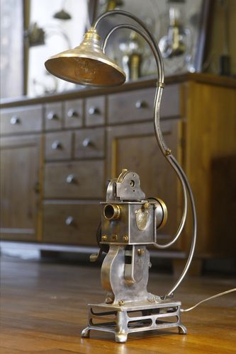 cr ation luminaire lampe r cup 39 projecteur de film path baby vintage lumiere de l 39 atelier. Black Bedroom Furniture Sets. Home Design Ideas