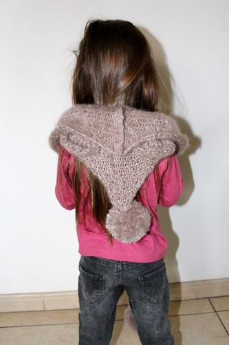 echarpe capuche laine ourson enfant 3