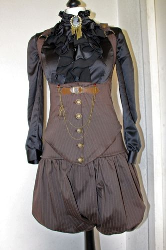 bloomer et corset steampunk
