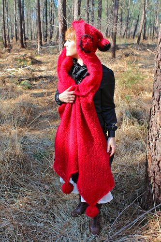 echarpe capuche laine femme 1
