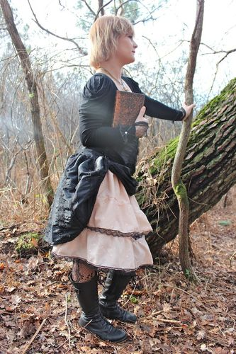 jupe + serre taille steampunk femme 2