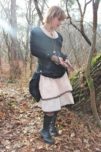 jupe + serre taille steampunk femme 6